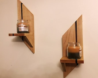 Geometric Wall Sconces (Set of 2)
