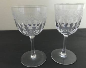 Two Mis Matched Sized Fine Glasses