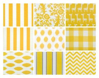 "Premier Prints ""Corn Yellow"" Fabric Remnants/Scrap Packs - Free Shipping"