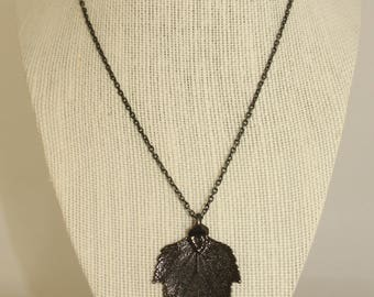 Black Birch Pendant and Chain Necklace