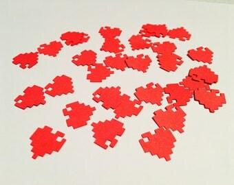 250 Minecraft/Pixel Heart Confetti
