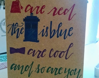 You are cool Dr Who card