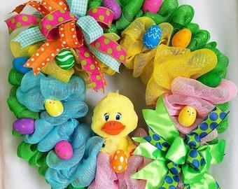 Easter Wreath, Whimsical Duck Wreath, Spring Decor, Front Door Wreath, Duck Decor, Duck Wreath, Spring Wreath, Easter Decor, Easter Duck