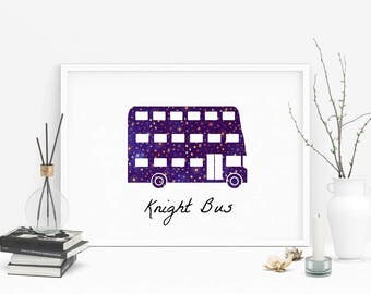 Harry Potter Knight Bus -  Wall/Dorm Art, Office, Dorm, Nursery, Digital Instant download, Printable quote, Digital poster