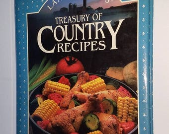 Vintage Land O Lakes treasury of country cooking hardcover cookbook