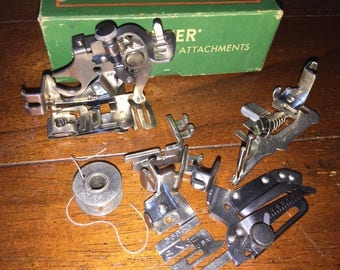 Vintage Singer Part 160809 sewing machine attachments with box