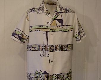 Vintage shirt, Hawaiian shirt, 1960s shirt, vintage clothing, Reyns Hawaii, Large