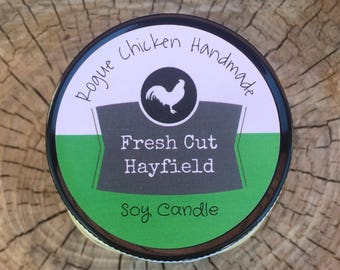 Fresh Cut Hayfield 4oz Soy Wax Scented Candle
