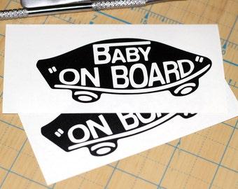 Baby On Board Skateboard Sticker