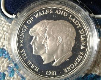 Sterling silver Charles & Di Royal Wedding coin