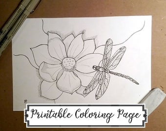 Printable Coloring Page - The Jewel In The Lotus