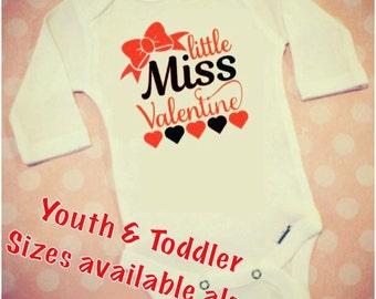 Valentines day shirt, Valentines day outfit, Valentines day baby, Valentines girl, Valentines baby girl, Valentines bodysuit, Little Miss