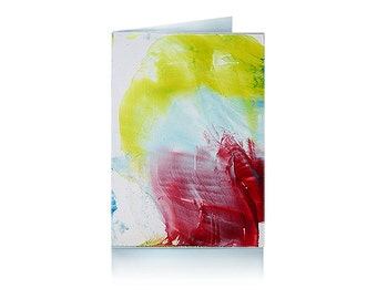 Greeting card: Red abstraction