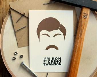 """Card A6, """"I'm Ron f * cking Swanson"""", series, character, parks and recreation"""