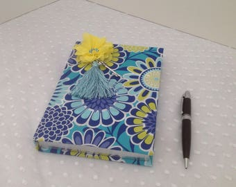 Journal  decorated in assorted fabrics