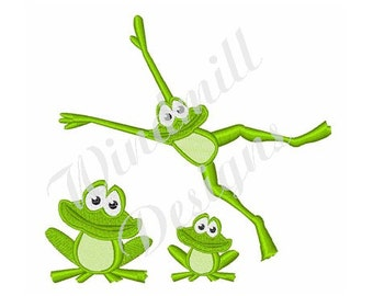 Party Frogs - machine embroidery design