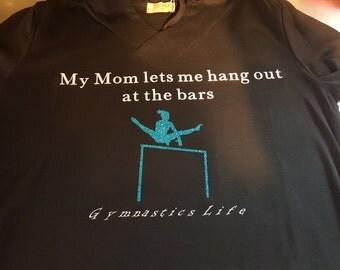 Gymnastics T-shirt Hang Out At The Bars