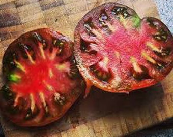 SALE Russian Black Krim Tomato Rare Heirloom Organic Non GMO Savory 20 Seeds #1157