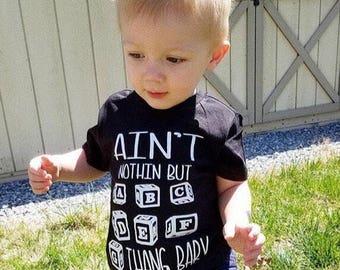 Toddler Shirt, Funny Toddler Shirt, Toddler Boy Clothes, ABC Shirt, G Thang Baby , ABC Blocks, Alphabet Shirt, Kids Clothes, Kids Top, Baby