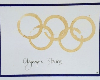 Olympic Stains postcard