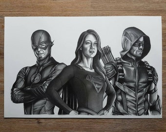 The Flash, Supergirl and The Green Arrow