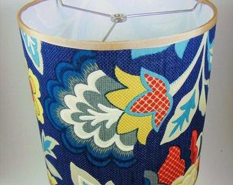 Custom Lampshade / Funky Floral Drum Lampshade /