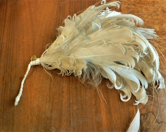 Couture curled feather corsage Millinery // originally cost 128 pounds Feather trim SALE