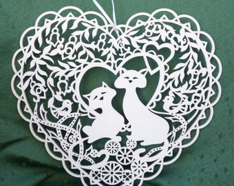 Cats In The Heart Decoration