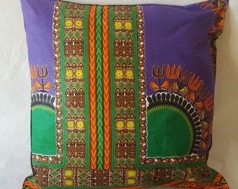 dashiki purple pillow