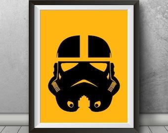 Stormtrooper Pittsburgh Steelers Inspired Minimalist Poster, Pittsburgh Art, Steelers Print, Football, Sports, Steelers, Pennsylvania