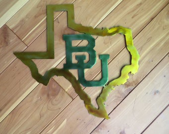 Shape of Texas with Baylor