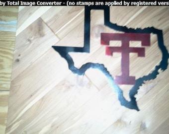 Shape of Texas w/ Texas Tech