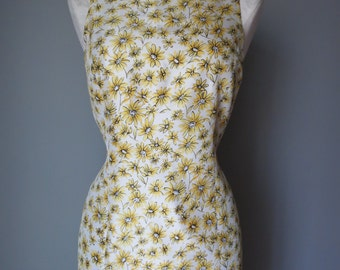 Vintage 1960's Silk Yellow Floral Sheath Dress