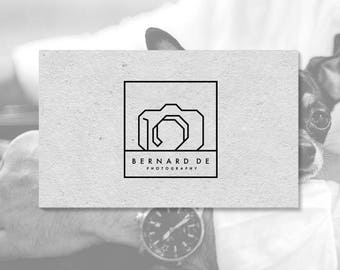 Modern Camera Logo. Photography Logo. Geometric Logo. Photographers. Cameras. Premade Logo. P09.