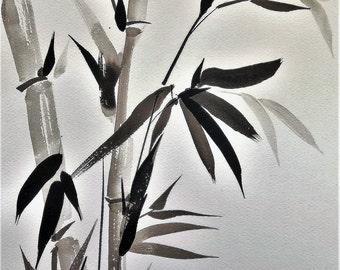 Bambù #2  carta italiana -  Bamboo #2 on Italian paper FREE SHIPPING!