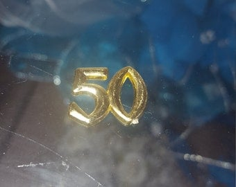 25 mini capia charms for 50th birthday anniversary  favors table decor