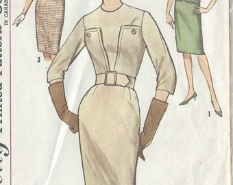 1960s Vintage Sewing Pattern B31 DRESS (R842) Simplicity 4695
