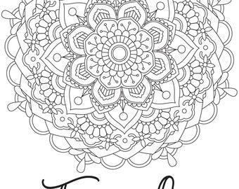 Printable Coloring Page - Mandala Faith