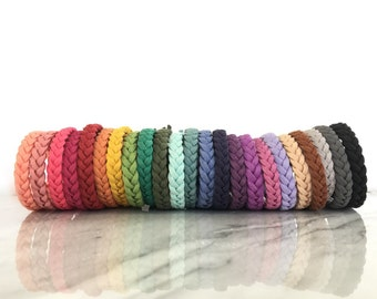 Braided Essential Oil Diffuser Bracelet - faux suede