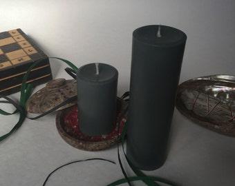 Grey Soy Wax Pillar Candles