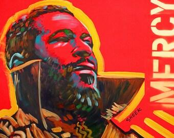 Marvin Gay,African American Jazz ,Black Art (20x27).Canvas Art,African American Art,Pop Art,Prints,Music.
