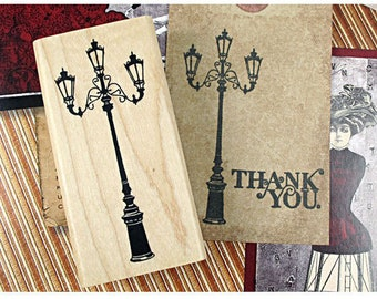 Wooden lamp post stamp