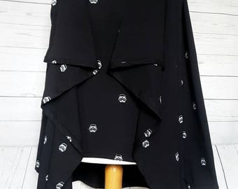 Ladies waterfall cardigan, Star Wars cardigan, Darth Vader jacket, Star Wars gift, Storm Trooper cardigan, Storm Trooper top,
