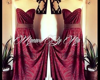 Manava By Nia Sweetheart Wrap Dress
