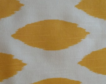 Home decor fabric, yellow and white, Premier Prints Chipper Corn Yellow Slub, fabric remnants, remnants, cotton slub fabric