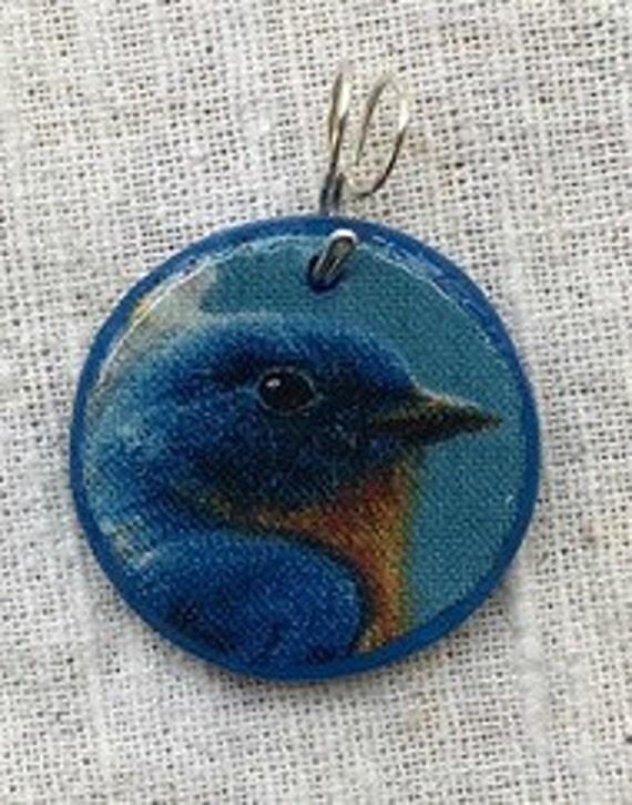 Bluebird necklace, bird necklace, bluebird jewelry, bluebird pendant, bluebird charm, blue bird necklace, statement necklace, blue necklace