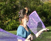 Flag Poi - Soft Purple with Silvery Stars