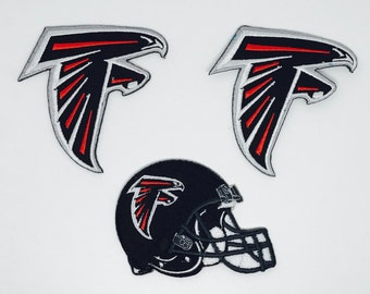 Atlanta Falcons Embroidered Iron On Patch - Set 3 PCS.