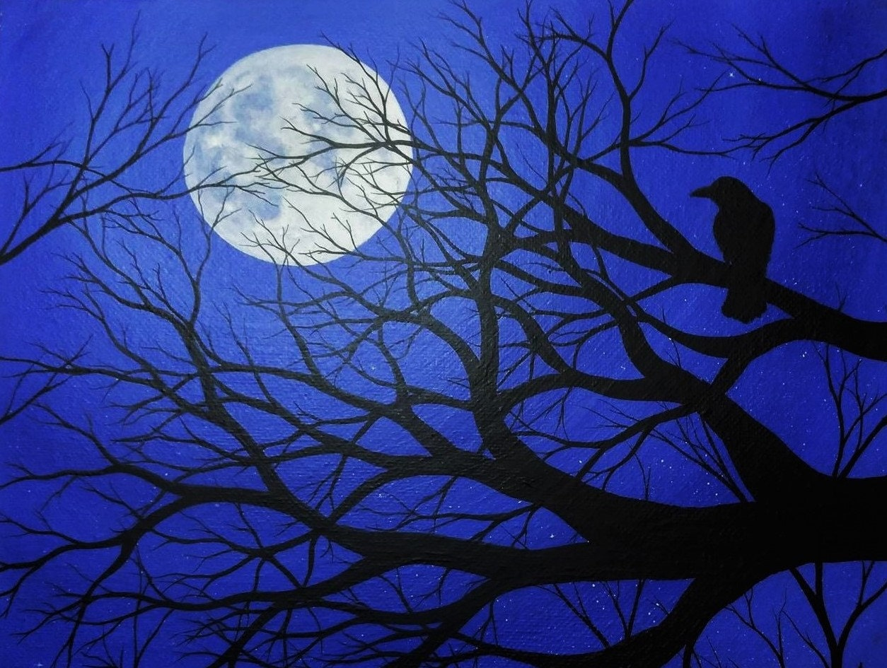 It's just a graphic of Unusual Birds In The Moon Drawing
