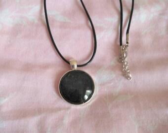 Black Cabochon Pendant